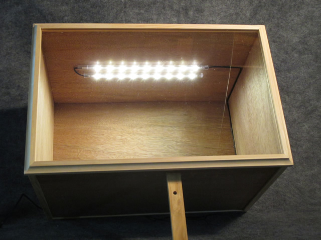 lighted box closeup